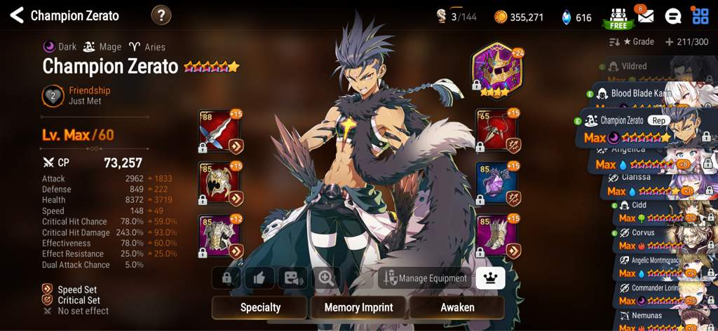 Epic Seven Champion Zerato Build Guide Mmosumo
