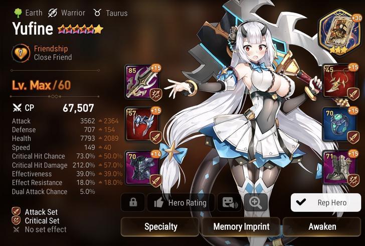 Epic Seven Yufine Build Guide Mmosumo